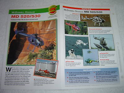 McDONNELL DOUGLAS MD 520/530 Helicopter Photo Brochure