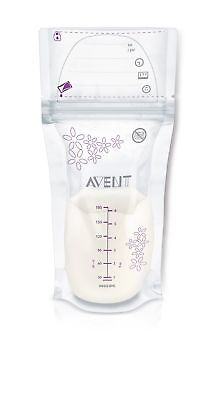 Philips AVENT Breast Milk Storage Bags Clear 6 Ounce 50 Pack New