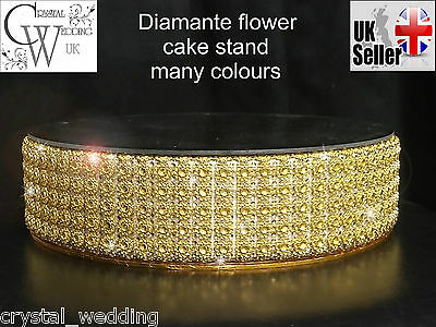 Sparkling flower diamante cake stand and separators many sizes & colours