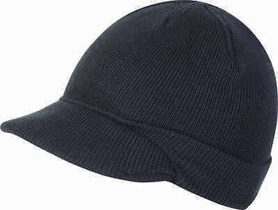 b212bc62652 Jeep Hat One Size Black Cap Army Military Beanie Cadet Mens New Winter