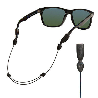 Chums Adjustable Orbiter eyewear cord sunglasses retainer holder eyeglass Black