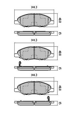 DB1819 Nissan Front Pads suits Nissan Cube Micra & Tiida