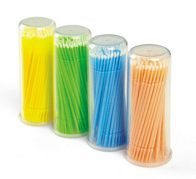 100 pcs Disposable Micro Applicator, Microbrush, regular, fine or superfine tips
