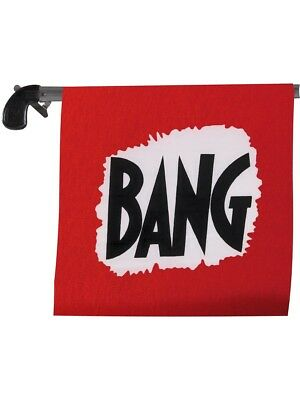 Bang Gun With Flag Comedy Fun Fancy Dress Accessory