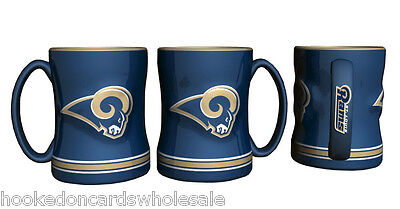 b6cb4b60c85 NFL LOS ANGELES Rams 2017 Sculpted Relief Coffee Mug Boelter Brands ...