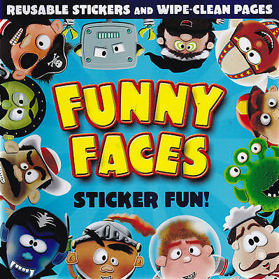 Funny Faces Sticker Activity and Wipe Clean Book - Boys