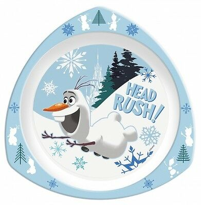 Disney Frozen Movie 'Olaf' Triangle Dinner Lunch Plate Brand New Gift