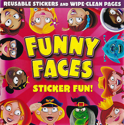 Funny Faces Sticker Activity and Wipe Clean Book - Girls