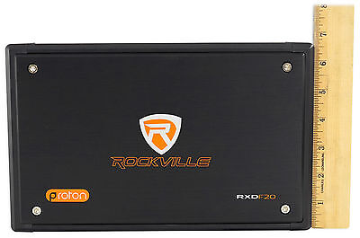 Rockville RXD-F20 Micro Car/ATV Amplifier 1600w Peak 4 Channel 4x100W/CEA Rated