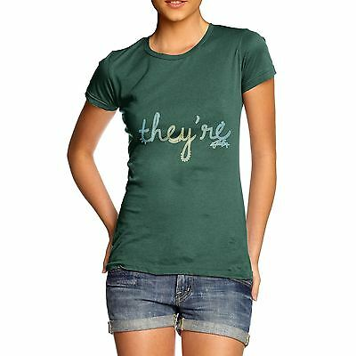 Twisted Envy Women's They're English Grammar T-Shirt
