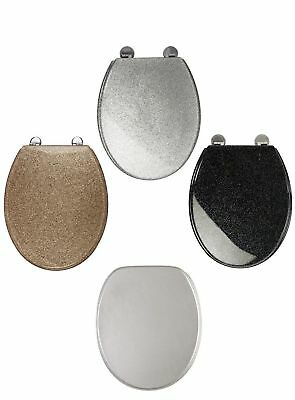 Brand New Glitter Toilet Seat Cover Metal Hinges - Universal fittings