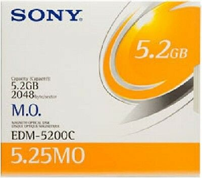 Sony Edm5200Cww 5.2Gb Optical Disks Edm-5200C 5 Pack New