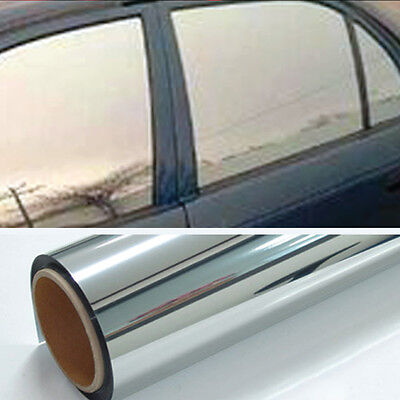 Chrome 20% Light Mirror Window Tint Film One Roll 10 Ft x 24 In Wide Lets In NEW
