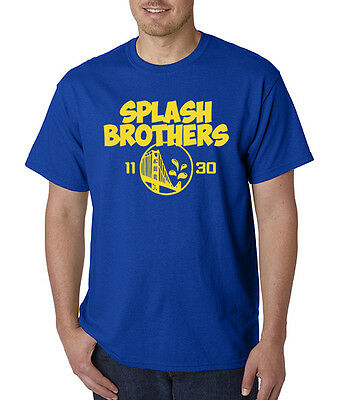 Splash Bros Golden State Warriors Mens T- Shirt 2015 NBA Champs! Curry Thompson
