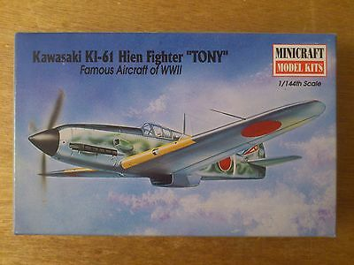 "1:144 Minicraft Nr. 14432 Kawasaki KI-61 Hien Fighter "" TONY "".  Bausatz."