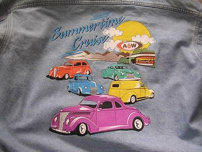 Neat A & W Root Beer XXL Denim Jacket w/ Street Rods 37 Ford Coupe New w/o Tags