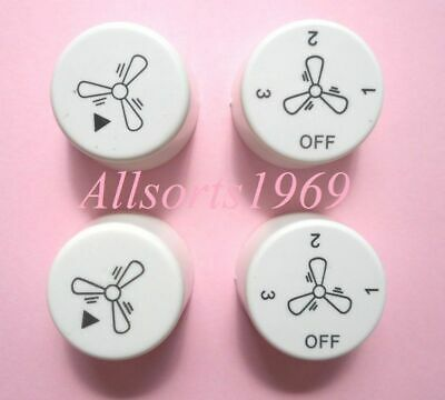 Ceiling fan control switch knobs replacement  * 2 pair *