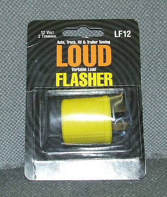 (1) Flasher LF12 LOUD BRAND NEW car truck trailer RV 12v 2 terminal signal LF 12