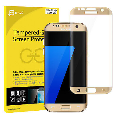 JETech 0928 Full Cover Tempered Glass Samsung Galaxy S7 Edge Screen Protector