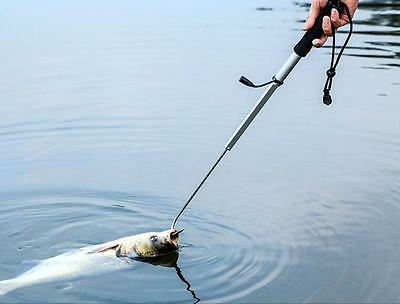 DZ803 Telescopic Retractable Fish Gaff Stainless Ice Sea Fish Spear Hook Tackle#