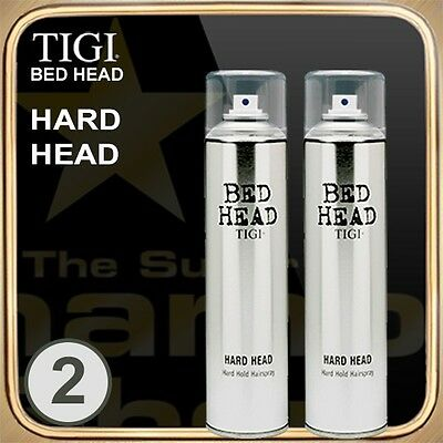 HARD HEAD Hard Hold Hairspray (385ml) BED HEAD TIGI Set of 2