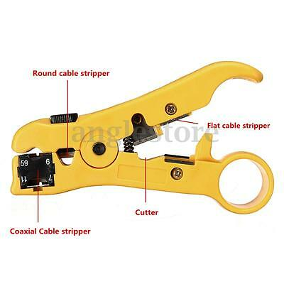 Rotary Coax Coaxial Cable Cutter Wire Stripper Stripping Tool RG6 RG59 RG7 RG11