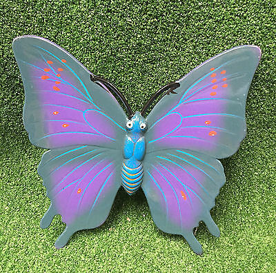 Green & Purple Garden Colourful Wall Hanging Butterfly Fence Decoration