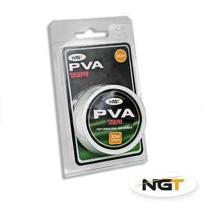 PVA TAPE 20m WITH DISPENSER FOR BAIT CARP COARSE FISHING TACKLE BOILIES NGT