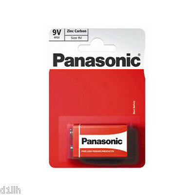 Panasonic 6F22RZ/1BP Heavy Duty 9V Zinc Carbon Battery Carded 1