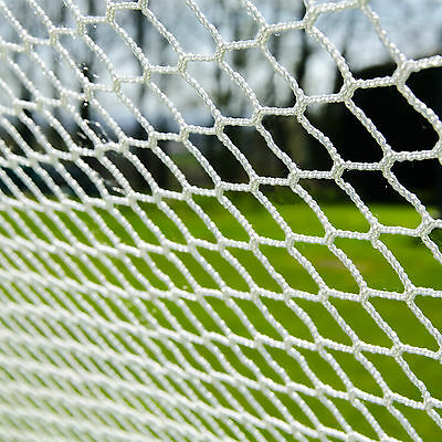 Lacrosse 5mm Goal Nets [Ultra Heavy Duty] – Replacement White Polyester Nets