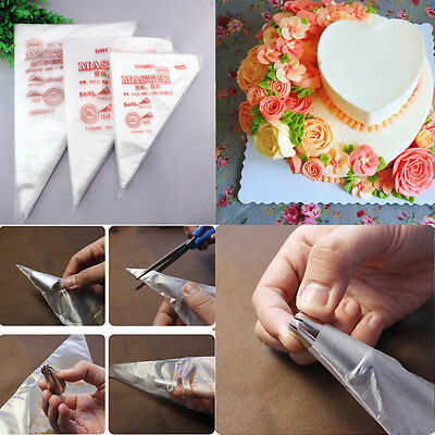 Icing Piping Bags Cream Bags Pastry 100Pcs Cake Decorting Tool 3 Size Disposable