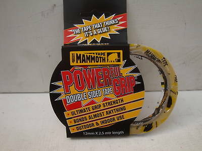Everbuild 12Mm X 2.5M Double Sided Power Grip Self Adhesive Mammoth Tape