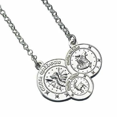 Harry Potter Silver Plated Gringotts Coin Necklace | Triple Silver Coin Design