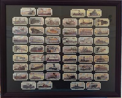 50 Wills Cigarettes Tobacco Cards British Military Ships HMS Framed