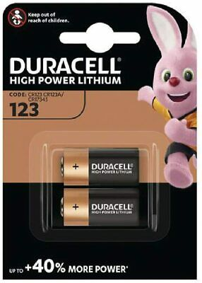Duracell CR123-C2 Ultra 3V Photo Lithium Battery Carded 2