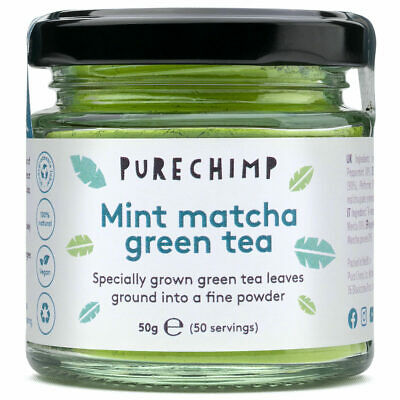 Mint Matcha Green Tea Powder by PureChimp™ - Flavoured 50g - Ceremonial