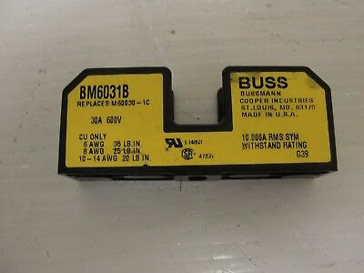 Used Buss Fuse Block, BM6031R