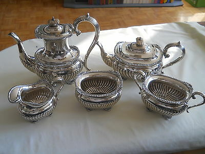 Awesome Birks Sterling 5 Pc Tea Coffee Service Set