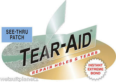 "Tear Aid Type A Bladder Repair Patch 3.25"" X 6""- Canvas, Nylon, Fiberglass- Raft"