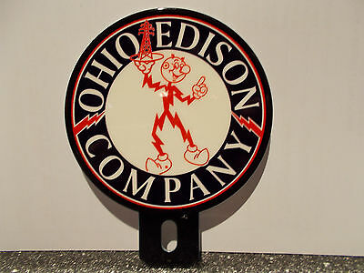 Ohio Edison Electric Power Company Reddy Kilowatt Plate Topper ELECTRICIAN GIFT