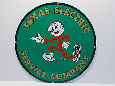 "Reddy Kilowatt 24"" TEXAS ELECTRIC DIE CUT HEAVY-THICK COLORS ELECTRICIAN GIFT"