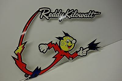 "Electric Power Company Reddy Kilowatt ""BOOMERANG FLASH"" ELECTRICIAN GIFT SIGN"