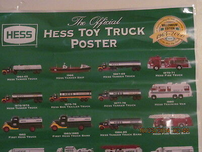 Official Hess Toy Truck Poster Millennium Edition 1964 -2000