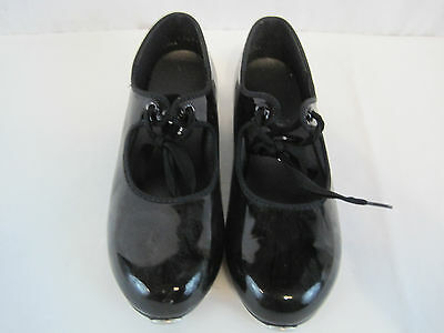 Black Dance Time Tap Shoes Size 11 Girls (HKY3753)