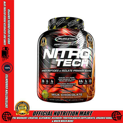MuscleTech NitroTech Lean Whey Protein Powder 1.8kg 4lbs 4lb Muscle Tech