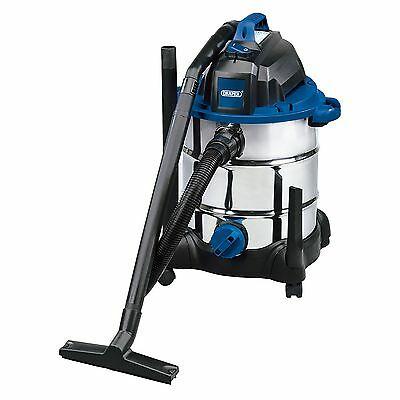 Draper 30L 1400W 230V Wet & Dry Vacuum Cleaner With Stainless Steel Tank - 53006