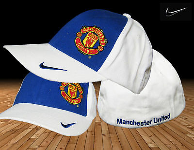 New Nike Manchester United Football Club Baseball Caps Blue White