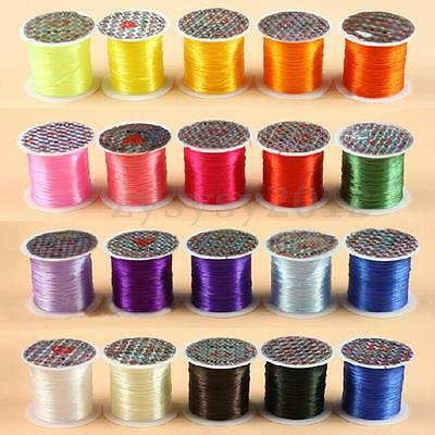 1 Roll 10m Strong Elastic Stretchy Beading 0.8mm Thread Cords For Jewelry Making