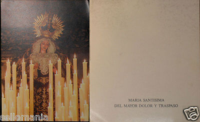 Old Blessed Virgin Mary Of Major Pain Holy Card Andachtsbild Santini Cc601