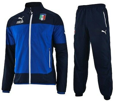 Puma Italy childrens blue polyester leisure football tracksuit 2014-15 age 14-16